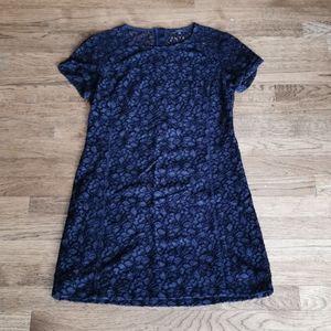 Aritzia Talula Black Lace Short-Sleeve Dress 10
